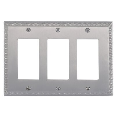 Egg and Dart Triple GFCI Light Switch or Socket Plate Finish: Satin Nickel