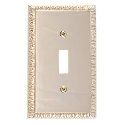 Egg and Dart Single Switch Plate Finish: Polished Brass