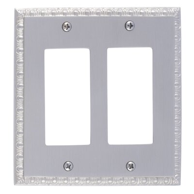 Egg and Dart Double GFCI Plate Finish: Satin Nickel