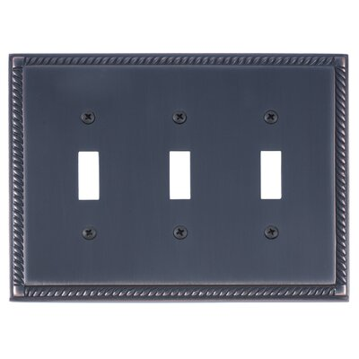 Georgian Triple Switch Plate Finish: Venetian Bronze