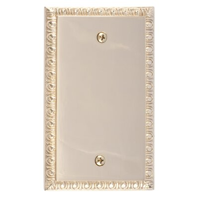 Egg and Dart Single Blank Plate Finish: Polished Brass