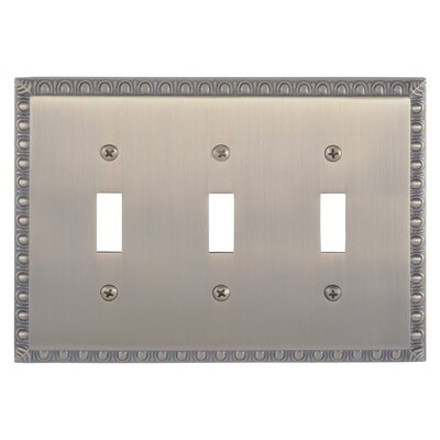 Egg and Dart Triple Switch Plate Finish: Antique Brass