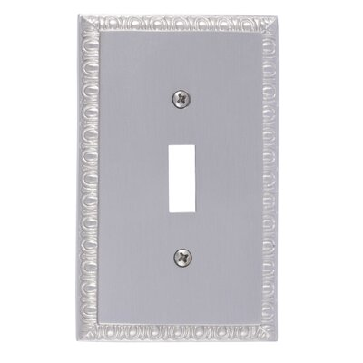 Egg and Dart Single Switch Plate Finish: Satin Nickel