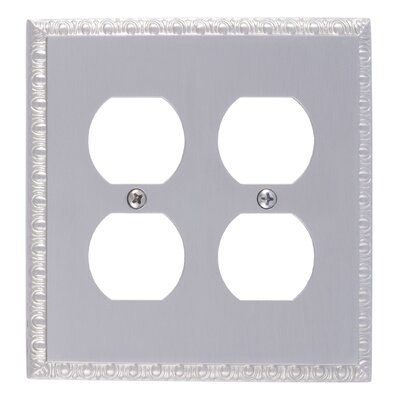 Egg and Dart Double Outlet Plate Finish: Satin Nickel