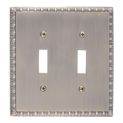 Egg and Dart Double Switch Plate Finish: Antique Brass