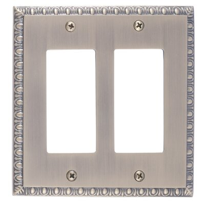 Egg and Dart Double GFCI Plate Finish: Antique Brass