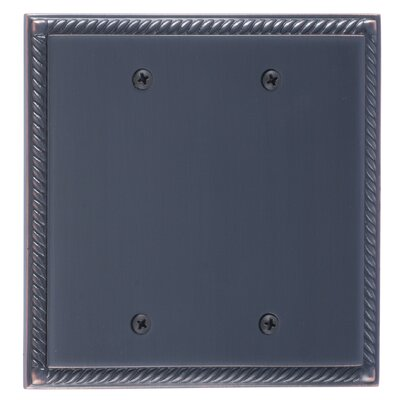 Georgian Double Blank Plate Finish: Venetian Bronze