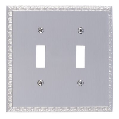 Egg and Dart Double Switch Plate Finish: Satin Nickel