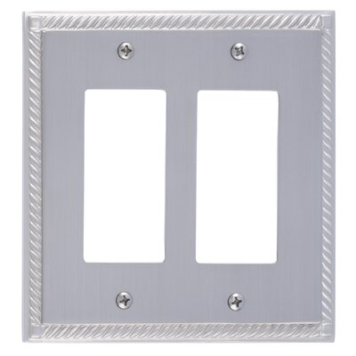 Georgian Double GFCI Plate Finish: Satin Nickel