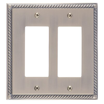 Georgian Double GFCI Plate Finish: Antique Brass