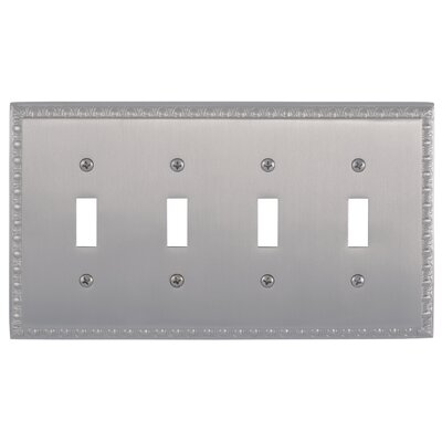 Egg and Dart Quad Switch Plate Finish: Satin Nickel
