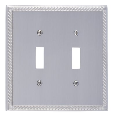 Georgian Double Switch Plate Finish: Satin Nickel