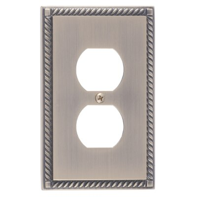 Georgian Single Outlet Plate Finish: Antique Brass