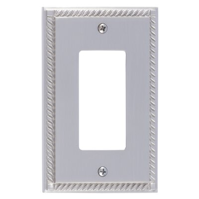 Georgian Single GFCI Plate Finish: Satin Nickel