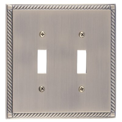 Georgian Double Switch Plate Finish: Antique Brass