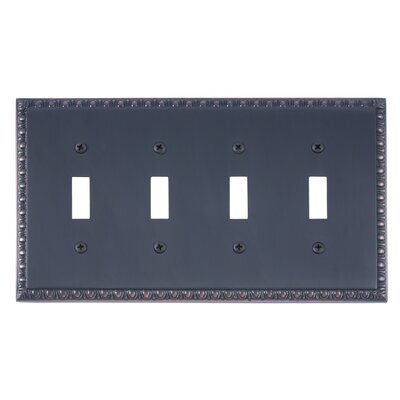 Egg and Dart Quad Switch Plate Finish: Venetian Bronze
