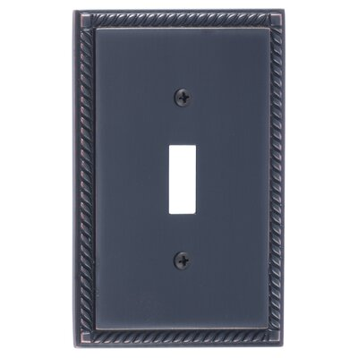 Georgian Single Switch Plate Finish: Venetian Bronze