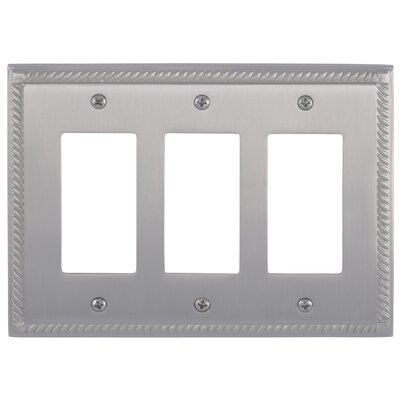 Georgian Triple GFCI Plate Finish: Satin Nickel