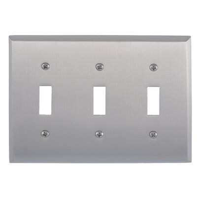 Quaker Triple Switch Plate Finish: Satin Nickel