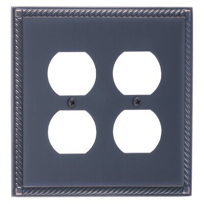 Georgian Double Outlet Plate Finish: Venetian Bronze