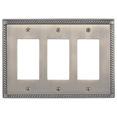 Georgian Triple GFCI Plate Finish: Antique Brass