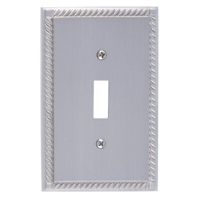 Georgian Single Switch Plate Finish: Satin Nickel