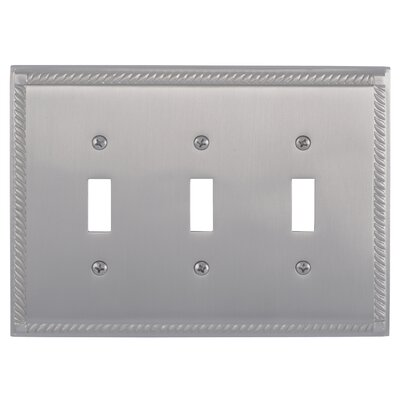 Georgian Triple Switch Plate Finish: Satin Nickel