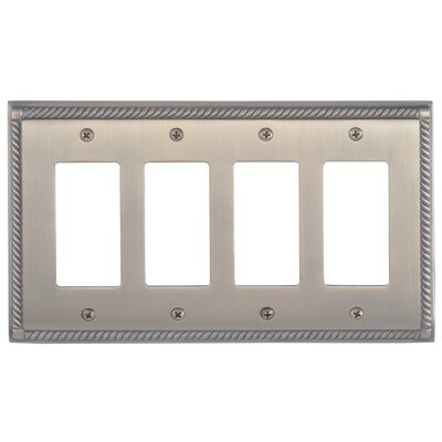 Georgian Quad GFCI Plate Finish: Antique Brass