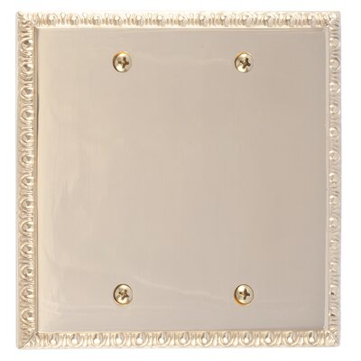 Egg and Dart Double Blank Plate Finish: Polished Brass