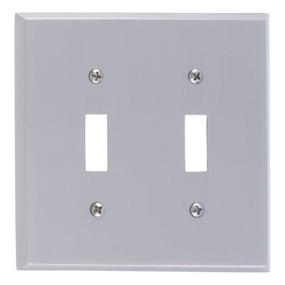 Quaker Double Switch Plate Finish: Satin Nickel