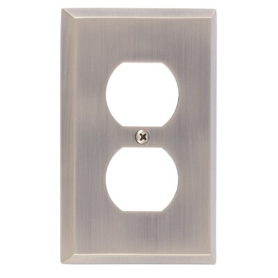 Quaker Single Outlet Plate Finish: Antique Brass