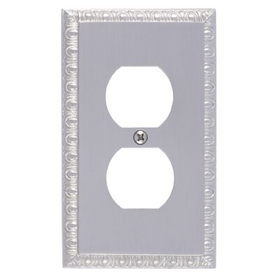 Egg and Dart Single Outlet Plate Finish: Satin Nickel