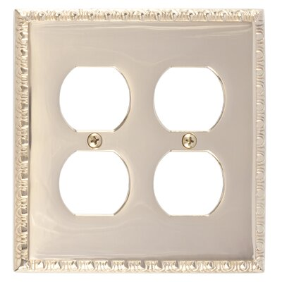 Egg and Dart Double Outlet Plate Finish: Polished Brass