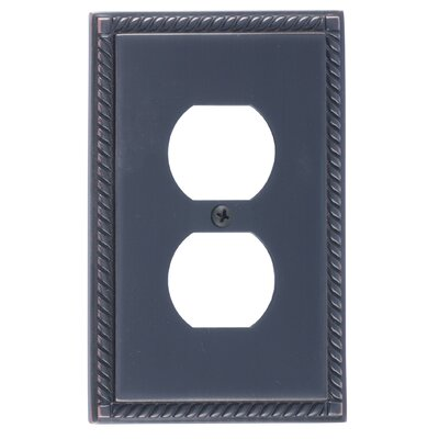 Georgian Single Outlet Plate Finish: Venetian Bronze