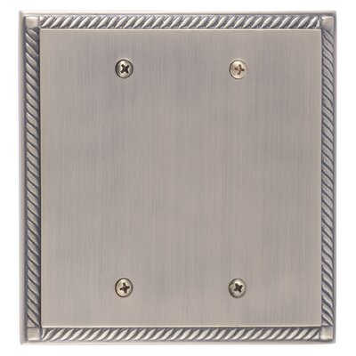 Georgian Double Blank Plate Finish: Antique Brass