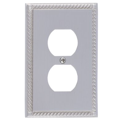 Georgian Single Outlet Plate Finish: Satin Nickel