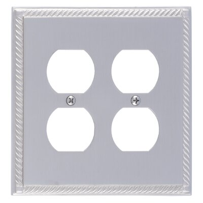 Georgian Double Outlet Plate Finish: Satin Nickel