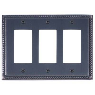 Georgian Triple GFCI Plate Finish: Venetian Bronze