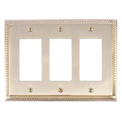 Georgian Triple GFCI Plate Finish: Polished Brass
