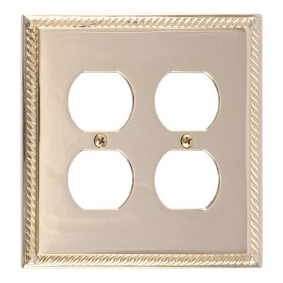 Georgian Double Outlet Plate Finish: Polished Brass