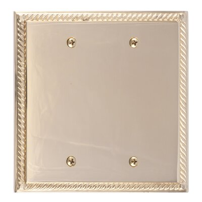 Georgian Double Blank Plate Finish: Polished Brass