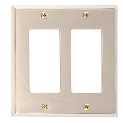 Quaker Double GFCI Plate Finish: Polished Brass