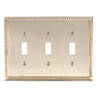 Georgian Triple Switch Plate Finish: Polished Brass