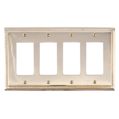 Georgian Quad GFCI Plate Finish: Polished Brass