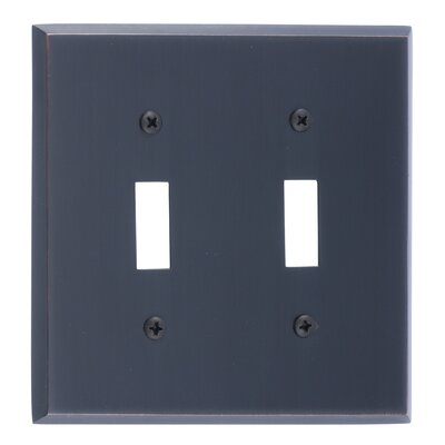 Quaker Double Switch Plate Finish: Venetian Bronze
