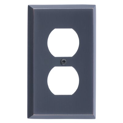 Quaker Single Outlet Plate Finish: Venetian Bronze