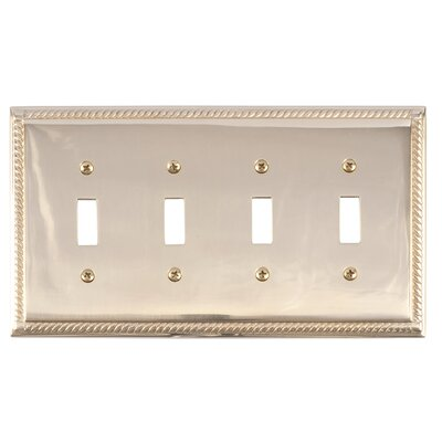 Georgian Quad Switch Plate Finish: Polished Brass