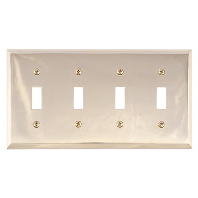 Quaker Quad Switch Plate Finish: Polished Brass