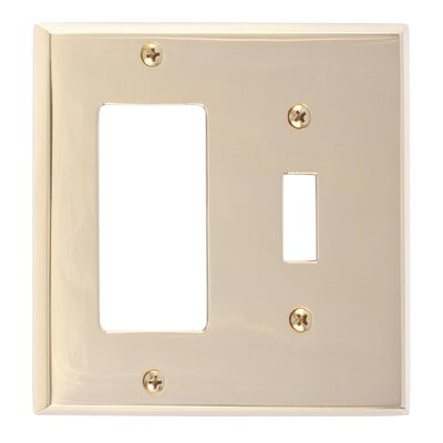 Quaker GFCI Plate Finish: Polished Brass