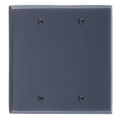 Quaker Double Blank Plate Finish: Venetian Bronze